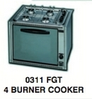 O311FGT 4 Burner Hob and Oven