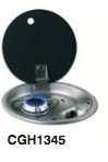 INTEGRATED HOB AND SINK UNIT - 1 BRN and GLASS LID