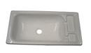 Rectangular basin  White - 555mm x 285mm x 110mm deep bowl.