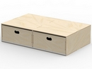 BIRCH PLYWOOD FLOOR DRAWERS - 2 DRAWERS
