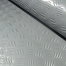 3x2mtr Grey Rubber Anti-Slip Chequered Van Floor Covering