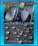 Vaux Vivaro 2014+ Driver's Seat And Non-Folding Double Passenger Seat VAVV14FTNFBK Tailored Seat Cover