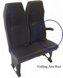 Double Folding Van Arm Rest