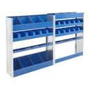 Tradesman Combo1.  Van Shelving and Racking Unit