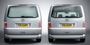 VW Volkswagen Caddy 1995 - 2004 L1 H1 Twin Doors Window Grilles with brake light cut out ADV-VG65L/P