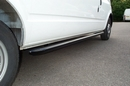 Ford Transit  LWB 2.5 JUMBO BLACK NYLON COATED TUBULAR SIDE PROTECTION BAR