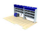 Iveco Daily 2014 onwards LV-L2-1 Internal Van Shelf Racking