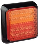 Rear LED combination stop/tail lamp Square Multivolt