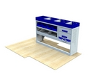Vauxhall Movano 1998 - 2010 SV-L2-2 Internal Van Shelf Racking