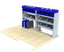 Vauxhall Movano 1998 - 2010 MV-L1-1 Internal Van Shelf Racking