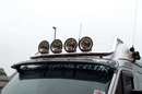 Ford Transit  JUMBO 2.5 BLACK NYLON COATED LIGHT BAR