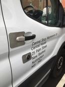 Ford Custom 2014 onwards O/S Load BLANK Sentinel Van Lock Shield Guard